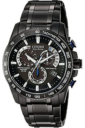 Citizen Men's Eco-Drive Chronograph Watch with a Dial and Stainless Steel Bracelet AT4007-54E