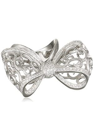 MISIS Women 9 k (375) Silver Princess Cut Zircon Rings