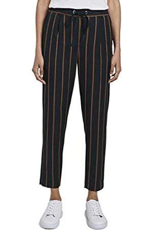 TOM TAILOR mine to five Women's Pinstripe Trouser, 21234-Navy Stripe