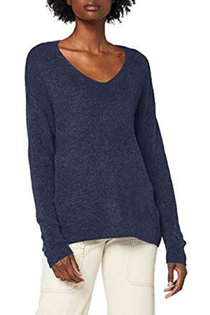 Vero Moda Women's Vmcrewlefile Ls V-Neck Blouse Color Pullover Sweater