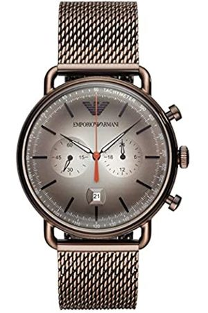 Emporio Armani Mens Chronograph Quartz Watch with Stainless Steel Strap AR11169