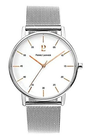 Pierre Lannier Mens Analogue Quartz Watch with Solid Stainless Steel Strap 202J108