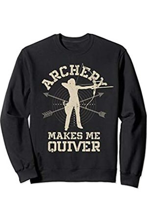 Funny Archery Shirts Co. Archery Makes Me Quiver Funny Bow Arrow Women Archer Sweatshirt
