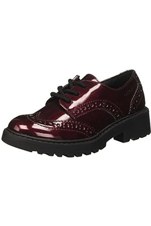 Geox Girls' J Casey K Brogues, (Bordeaux C7005)