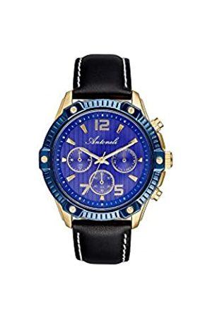 Antoneli Unisex Adult Analogue Quartz Watch with Leather Strap ANT1002