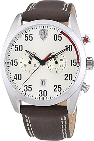Ferrari Men's Analogue Classic Quartz Watch with Leather Strap 0830174