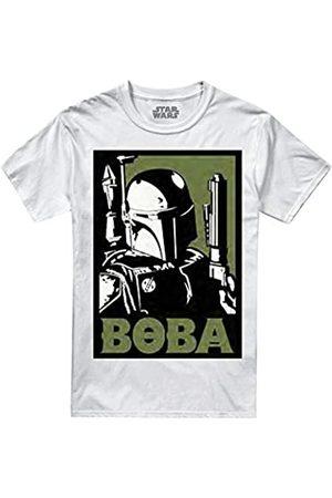 STAR WARS Men's Boba T-Shirt, White