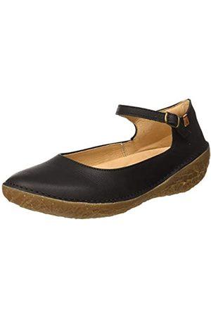 El Naturalista Women's N5720 Pleasant Borago Ankle Strap Ballet Flats