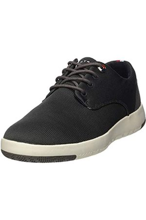 Tommy Hilfiger Men's Lightweight Textile Lace Up Shoe Trainers, (Dark Ash Pty)