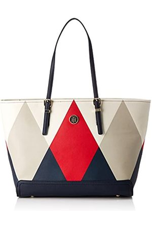 Tommy Hilfiger Womens Honey Ew Tote Argyle Print Canvas and Beach Tote Bag (Argyle Print)