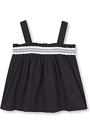 Gocco Girl's Camisa Con Tira Bordada Blouse, (Negro S03cmcca301na)