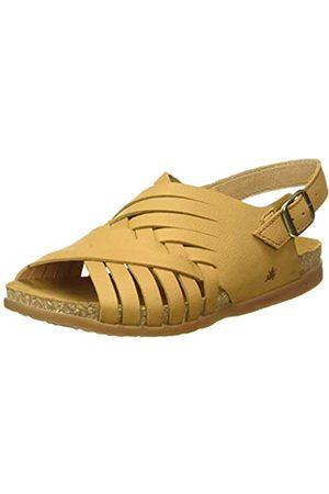 El Naturalista Women's N5246 Soft Grain Zumaia Open Toe Sandals, (Curry Curry)