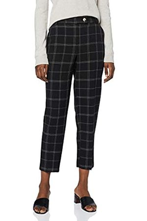 Dorothy Perkins Women's Edit Grid Check Ankle Grazer Trousers Work Utility Pants