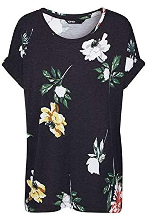 Only Women's Onlmoster New AOP S/s O-Neck Top JRS T-Shirt