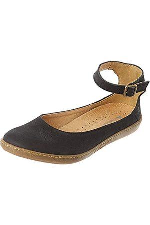 El Naturalista Women's N5226 Pleasant Coral Ankle Strap Ballet Flats