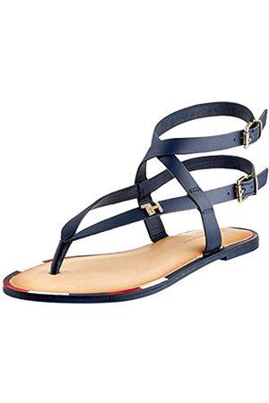 Tommy Hilfiger Women's Feminine Elastic Flat Sandal Flip Flops, (Sport Navy Db9)