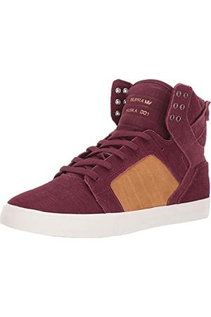 Supra Unisex Adults' Skytop Skateboarding Shoes, (Wine/TAN-Bone-M 694)