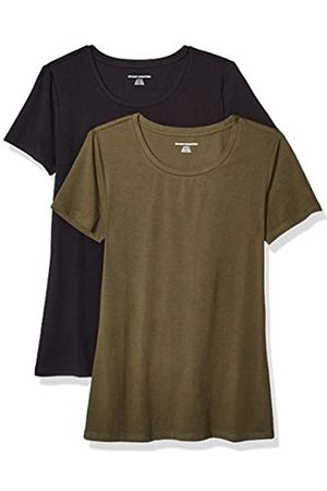 Amazon Essentials 2-pack Short-sleeve Crewneck Solid T-shirt (Olive/ )