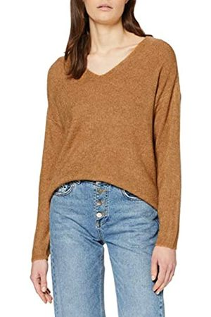 Vero Moda Women's Vmcrewlefile Ls V-Neck Blouse Noos Sweater