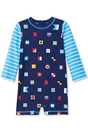 Hatley Baby Boys' One Piece Rash Guard Swimsuits (Nautical Flags 400)