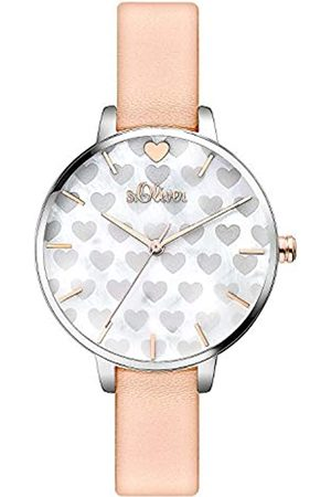 s.Oliver Women's Analogue Quartz Watch with Leather Strap SO-3474-LQ