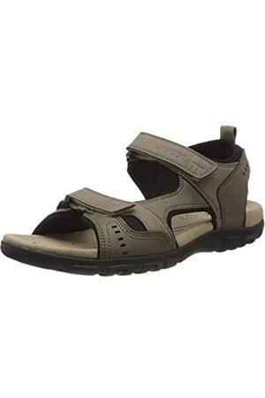 Geox Men's Uomo Sandal Strada A Open Toe, (Taupe C6029)