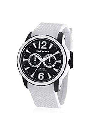 Time Force TF4182 M18 - Watch with Rubber Strap for ManWhite/