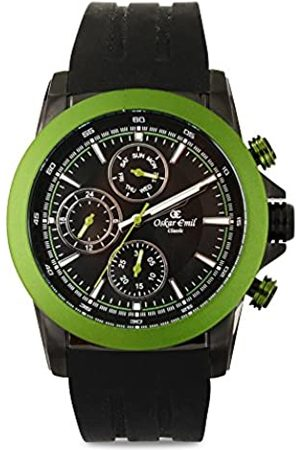 Oskar Emil Sports Men's Quartz Watch with Dial Chronograph Display and Silicone Strap Winston Green