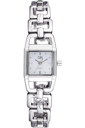 Clips Women's Quartz Watch with Dial Analogue Display and Metal Strap 553-2011-18