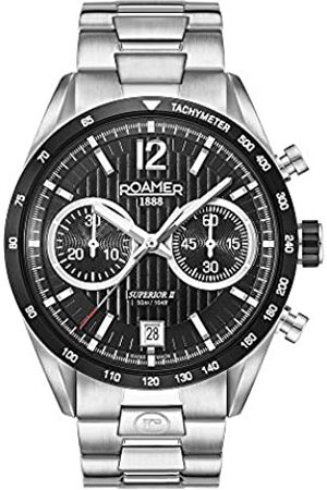 Roamer Mens Chronograph Quartz Watch with Stainless Steel Strap 510902 41 54 50