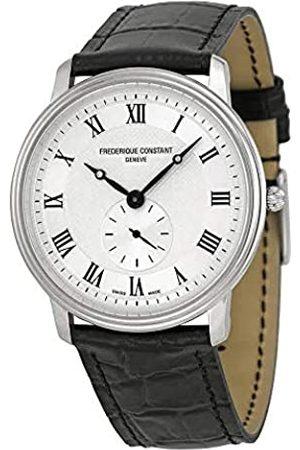 Frederique Constant Men's Quartz Watch Slim Line FC-235M4S6 with Leather Strap