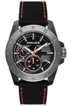 Police Mens Multi dial Quartz Watch with Silicone Strap PL.15527JSBU/02P