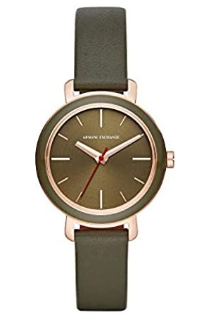 Armani Womens Analogue Quartz Watch with Leather Strap AX5701