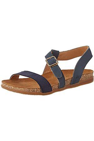 El Naturalista Women's N5245 Multi Leather Zumaia Open Toe Sandals, (Marino Mixed Marino Mixed)