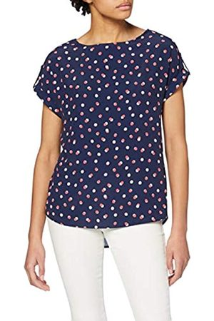 Dorothy Perkins Women's Navy Spot Turn Back T-Shirt