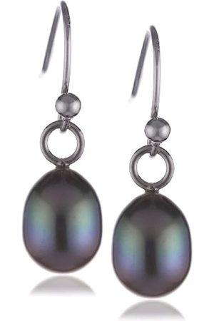 "Sakura Pearl Women""s Earrings Freshwater Pearls 925 Sterling Silver"