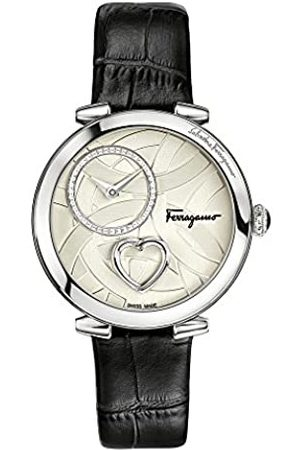Salvatore Ferragamo Salvatore Ferragamo Cuore Women's Quartz Patented Watch with Texture Dial set with Beating Heart and Leather Strap FE2990016