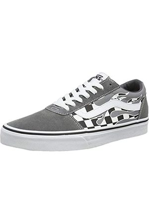 Vans Men's's Ward Suede/Canvas Trainers, ((Flame Check) Pewter/ Wd)