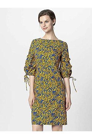 Apart Women's Printed Dress Gelb-Royalblau