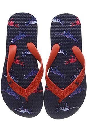 Joules Boys Flip Flops, (Navy Dinos Navydinos)