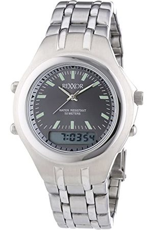 Rexxor Men's Wristwatch Quartz with Dial Analogue/Digital and Stainless Steel 242-7904-88