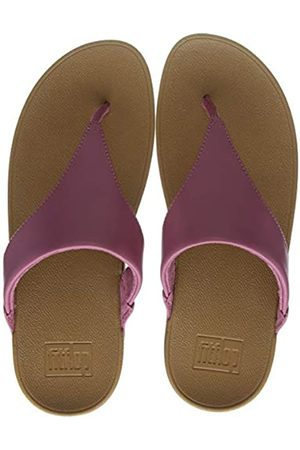 FitFlop Women's LULU Toe Post - Leather Open Sandals, (Ss20 Heather Rose 802)