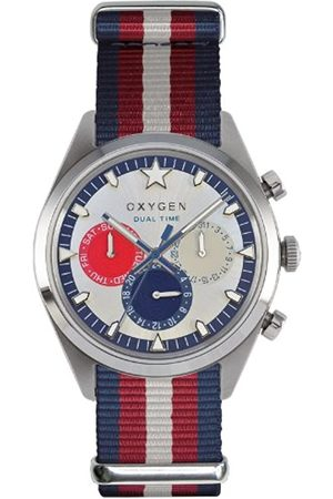 Oxygen Long Island 40 Unisex Quartz Watch with Dial Analogue Display and Nylon Strap
