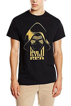 Star Wars Men's VII Kylo Ren Head Yellow T-Shirt
