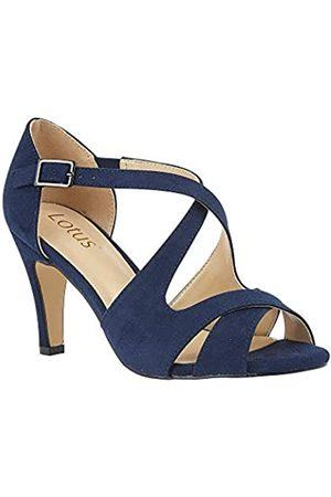 Lotus Women's Sadia Open Toe Heels, (Navy De)