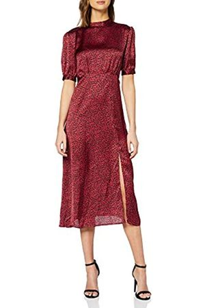 New Look Women's F SP LARA LEOPARD SATIN HNK MI Casual Dress