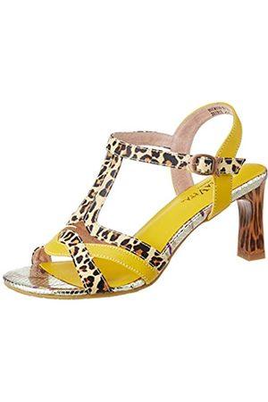 LAURA VITA Women's Hucmiso 01 Open Toe Sandals, (Jaune Jaune)