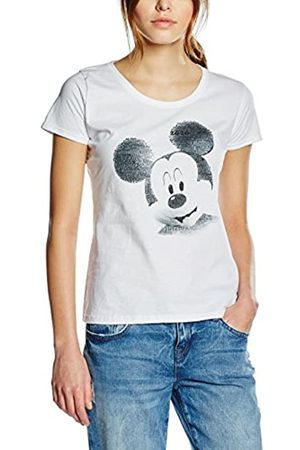 Disney Women's Mickey Mouse Text Face T-Shirt