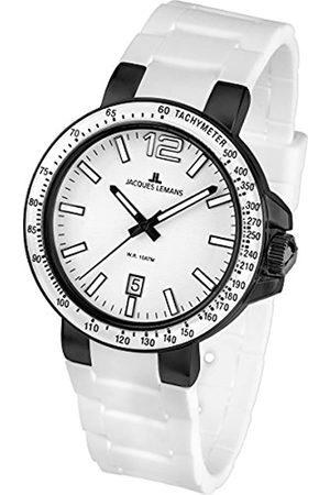 JACQUES LEMANS Unisex Analogue Quartz Watch with Silicone Strap 1-1695G