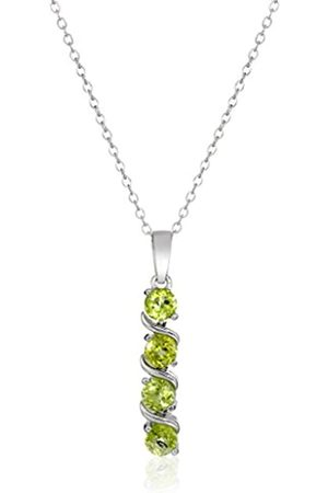 Amazon Collection Sterling Necklace with Peridot Pendant